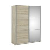 Garderobekast Janneke licht eiken 150 cm met spiegel