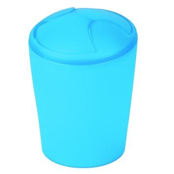 Spirella Move afvalemmer frosty 5 liter blauw