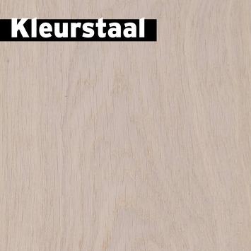 Échantillon parquet motif chevrons  chêne blanc huile