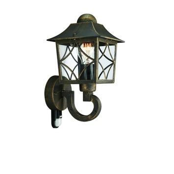 Applique extérieure avec détecteur de mouvement Cambridge Massive exclusive ampoule E27 60W noir