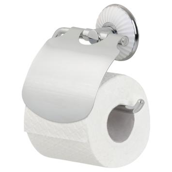 Tiger toiletrolhouder met klep Ivy chroom/wit