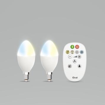 iDual White kaars E24 incl remote