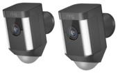 Caméra sans fil Ring Spotlight Cam noir 2 pièces