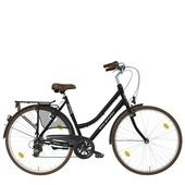 Vélo femme 54 City Seven Pelikaan noir