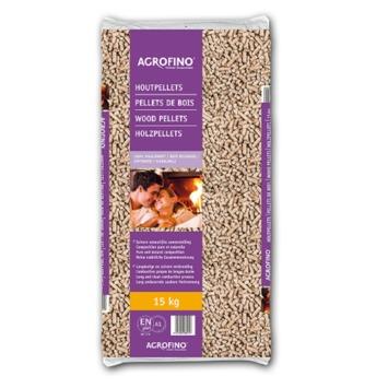 Agrofino houtpellets 100% naaldhout 15 kg
