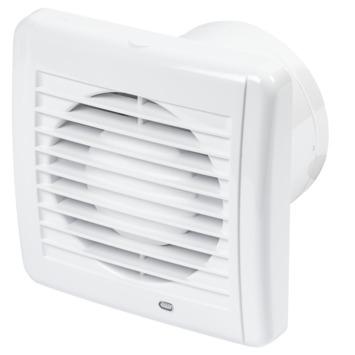 Sanivesk stille ventilator met timer Ø100 mm wit