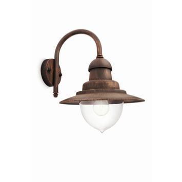 Philips wandlamp Raindrop met eco halogeenlamp E27 53W 850 lumen brons