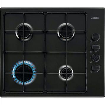 Table de cuisson au gaz Zanussi ZGH62414BA 58 cm