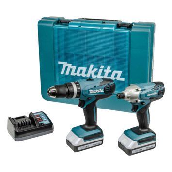 Pack combi visseuse à chocs & perceuse-visseuse à percussion Makita 18V HP457D+TD127D +2 accus 1,3 Ah