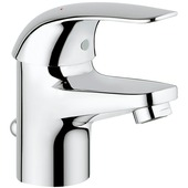 GROHE wastafelkraan Swift Start Eco S-size met hendel en waste Chroom