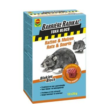 Compo Barrière Radikal Toxa blokjes tegen ratten en muizen 0,3 kg