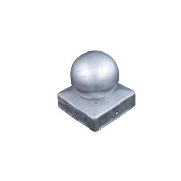 Couvre poteau boule 70x70 mm galvanisé