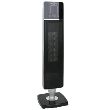 Zuilventilatorkachel met afstandsbediening 2000 W zwart