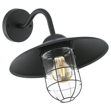 Wandlamp Melgoa EGLO E27 zwart