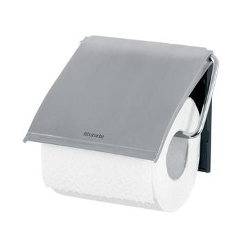 Porte-papier WC avec couvercle Brabantia chromé mat