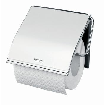 Brabantia wc rolhouder met klep chroom rechthoek