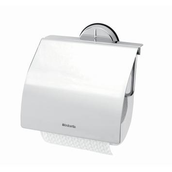 Brabantia wc rolhouder met klep chroom vierkant