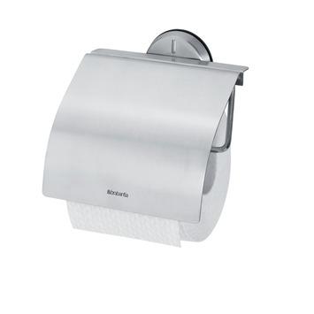 Brabantia wc rolhouder met klep mat chroom vierkant