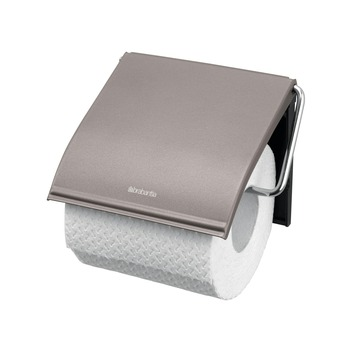 Brabantia wc rolhouder met klep platina