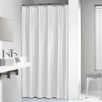 Rideau de douche madeira sealskin 180x200 cm blanc textile rideaux barres attaches rideaux - Rideau de douche textile ...