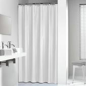 Rideau de douche Madeira Sealskin 180x200 cm blanc textile