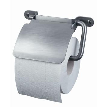 Haceka Ixi wc rolhouder met klep inox