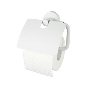 Haceka Kosmos toiletrolhouder met klep wit