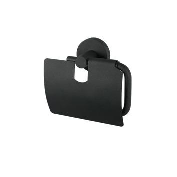 Haceka Kosmos toiletrolhouder met klep zwart