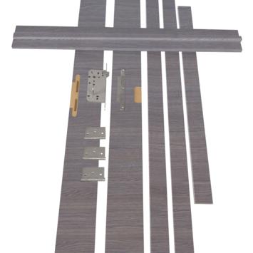 Solid Portixx deurkassement MDF eik grijs horizontaal 202,2x12,5 cm