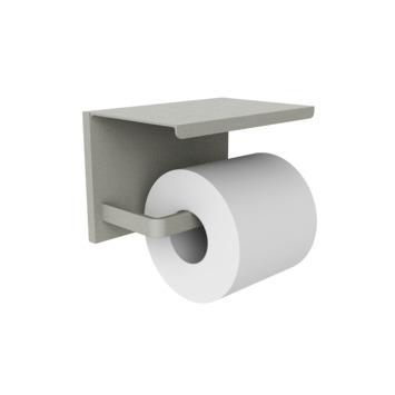 Allibert toiletrolhouder Loft Game met plateau en rail Grijs