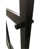 Bouton de porte solid pour porte en acier noir