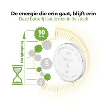 Pile bouton GP lithium CR2450 3 V