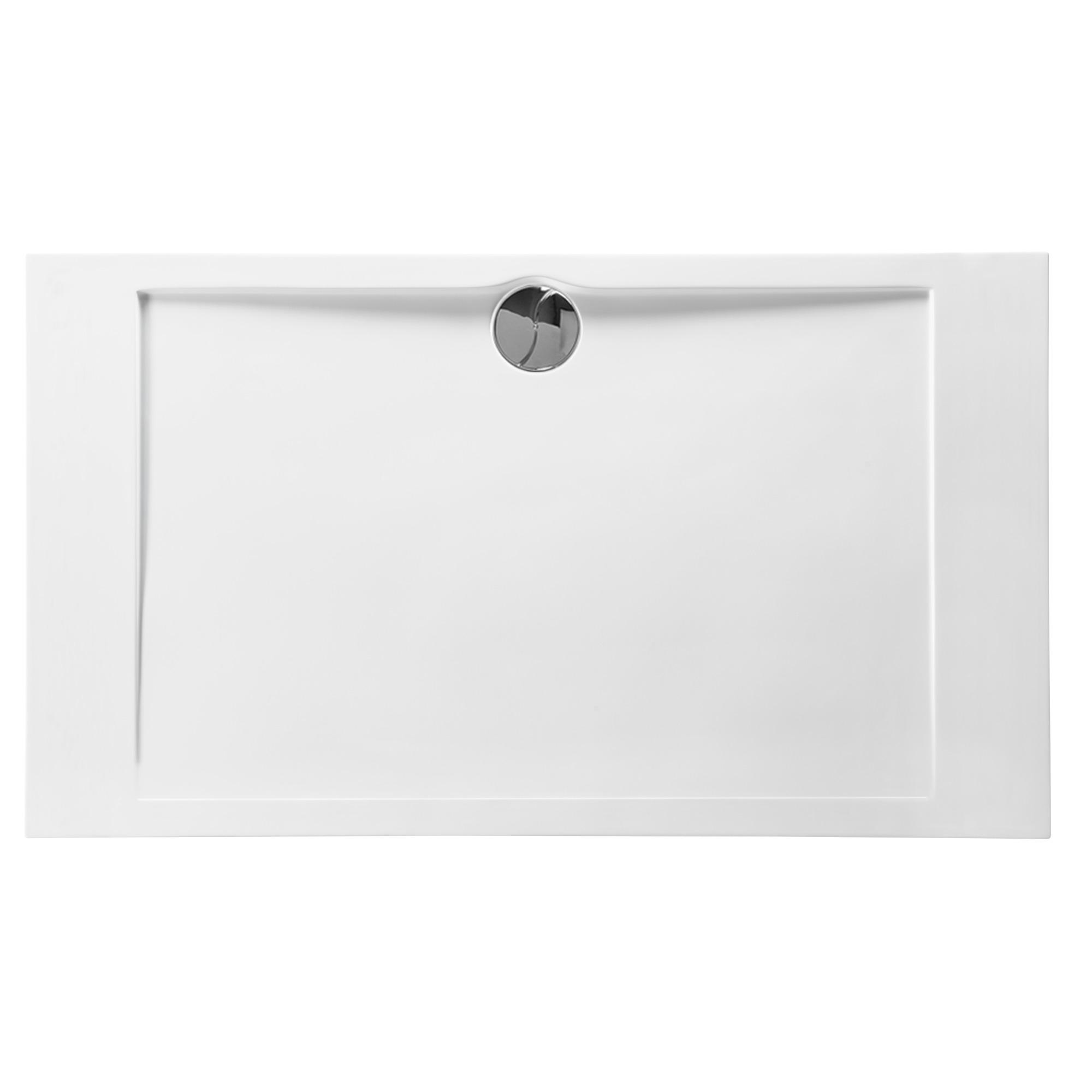 Allibert receveur slim 140x80 polyb ton blanc receveurs caniveaux de - Receveur de douche allibert ...