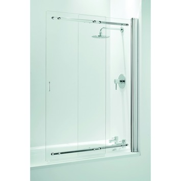 Pare Baignoire Coulissant Frameless 140 Cm Chrome Gamma Be