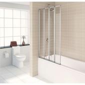 Paroi de bain 4 parties 84x150cm aluminium