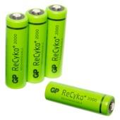 GP oplaadbare NiMH AA-batterij 2000 mAh 4 stuks