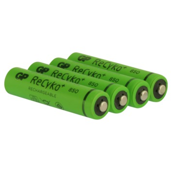 GP oplaadbare NiMH AAA-batterij  850 mAh 4 stuks