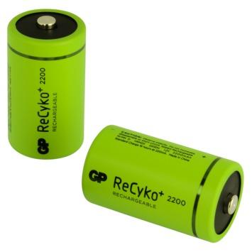 GP oplaadbare NiMH D batterij  2200 mAh 2 stuks