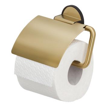 Porte-papier WC avec couvercle Tune Tiger laiton noir