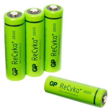 GP oplaadbare NiMH AA-batterijen 2600 mAh 4 st