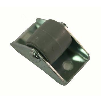 Bokwiel met plaatbevestiging Ø15 mm max. 20 kg zwart