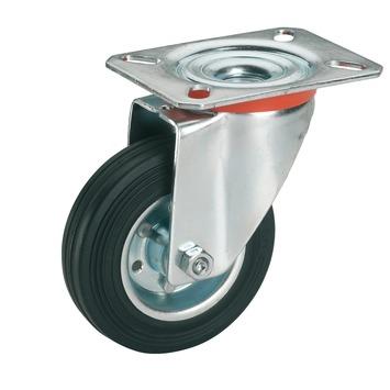 Roulette pivotante avec plateau 100 mm 70 kg