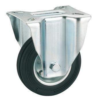 Bokwiel Rubber met plaatbevestiging Ø 80 mm max. 50 kg