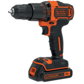 Perceuse à percussion 18 V Li-ion Black+Decker BDCHD18KB-QW 2 accus