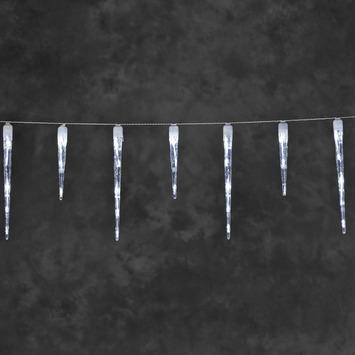 Kerstverlichting ijspegel LED 3,75 m koel wit voor buiten