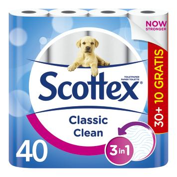 Scottex toiletpapier wit 30+10 rollen gratis