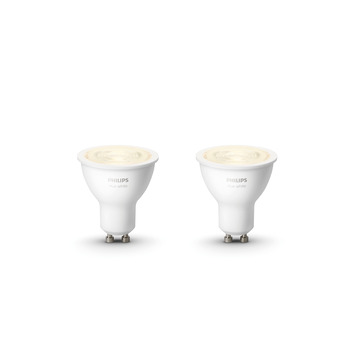 Philips Hue White 5.2W gu10 2pack wit