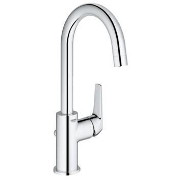 Mitigeur de lavabo rehaussé Grohe Start Flow taille L avec bonde chromé
