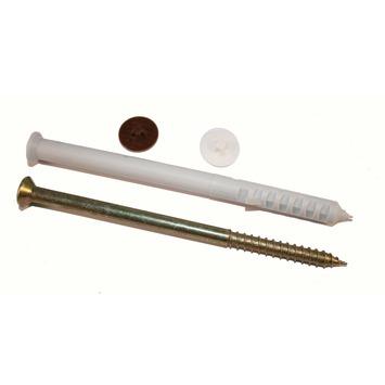 Cheville pour châssis avec cache-vis GAMMA 10x120 mm nylon 4 pièces