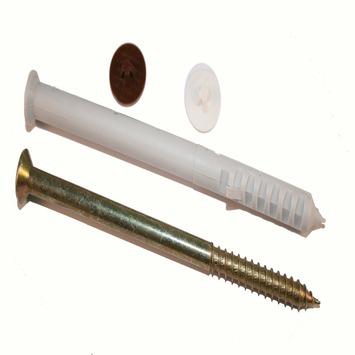 Cheville pour châssis avec cache-vis GAMMA 10x100 mm nylon 4 pièces